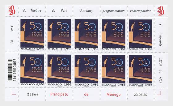 50 Años Del Teatro Fort Antoine - Mini Hojas