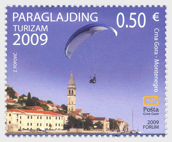 Tourism 2009 (Paragliding) | Montenegro Stamps | Worldwide Stamps