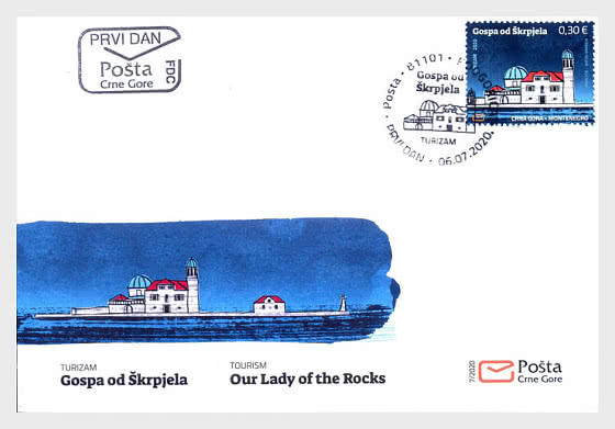 Tourism Our Lady of the Rocks - First Day Cover