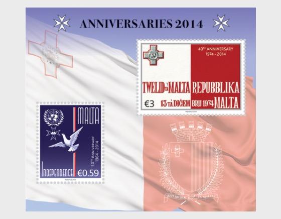 Anniversaries 2014 - Miniature Sheet