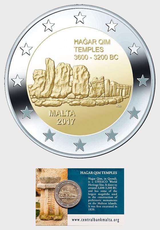 Hagar Qim Temples €2 Coin Card - Coin Card