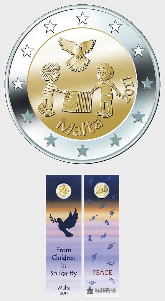 Peace €2 Coin Card - Coin Card