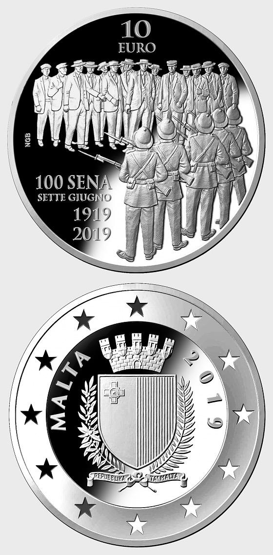 Centenary of the Sette Giugno Riots 1919 Silver Proof - Silver Coin