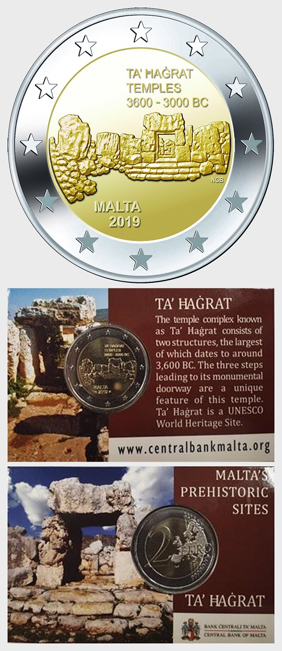 Ta'Hagrat €2 Commemorative Coin Card - Coin Card