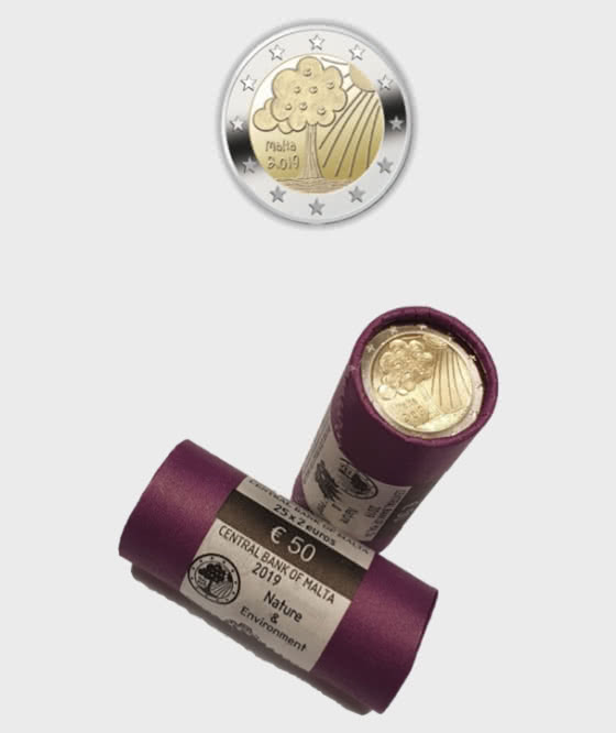 Nature and Environment ( x 25 coins)  - Coin Roll - Coin Tube