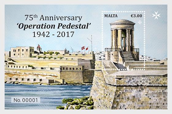 75th Anniversary 'Operation Pedestal' 1942 - 2017 - Miniature Sheet