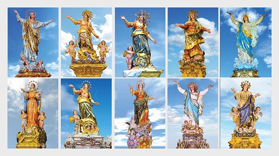 Maltese Festa Series - The Assumption Of Our Lady 2017 - (Max. Cards Our Lady 48 - 57 Set x 10) - Maxi Cards