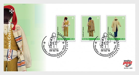 Traditional Costumes 2018 - First Day Cover