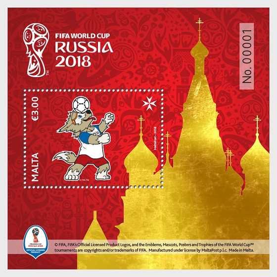 2018 Fifa World Cup Russia - Miniature Sheet