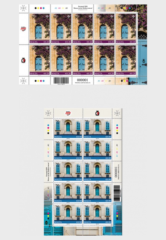 Euromed Postal - 'Houses in the Mediterranean' - Sheetlets