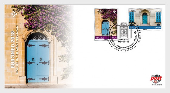 Euromed Postal - 'Houses in the Mediterranean' - First Day Cover