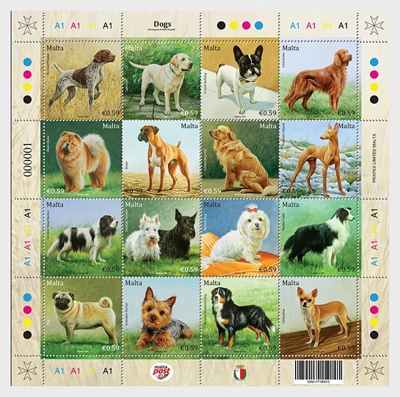 Dogs - Miniature Sheet
