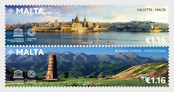 Emisión Conjunta Malta - Kirguistán - Series