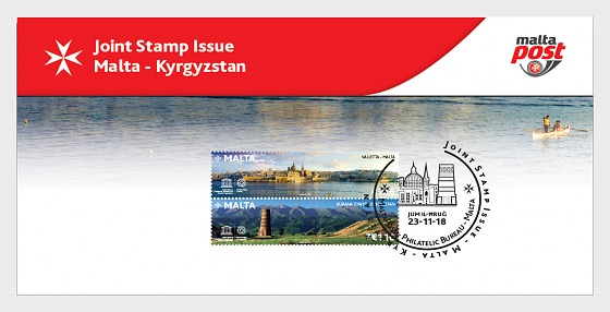 Malta - Kyrgyzstan Joint Stamp Issue - SF - Collectibles
