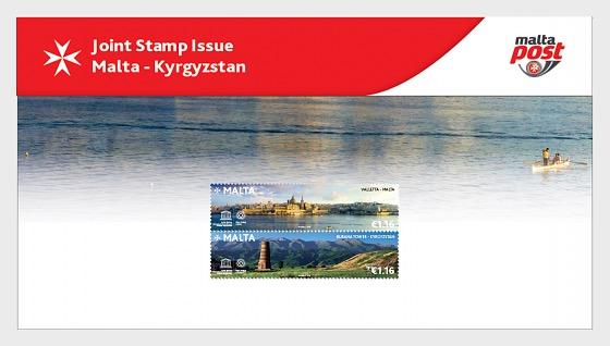Emisión Conjunta Malta - Kirguistán - Pack de Presentación