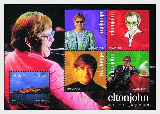 Elton John - Miniature Sheet