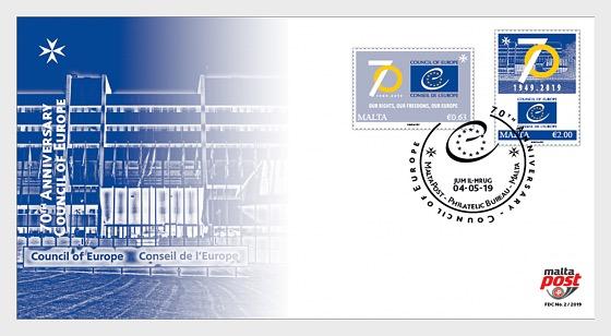 70 ° Anniversario Consiglio d'Europa - FDC