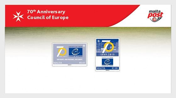 70 ° Anniversario Consiglio d'Europa - Presentation Pack