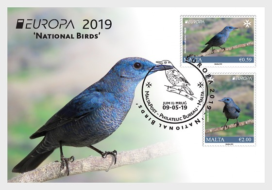Europa 2019 - National Birds - Postcard