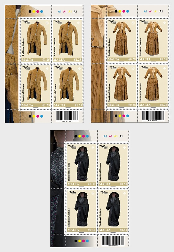 Euromed Postal - 'Traditional Costumes' - Block of 4
