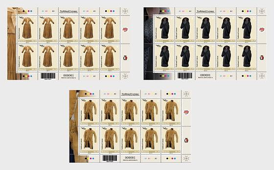 Euromed Postal - 'Traditional Costumes' - Sheetlets