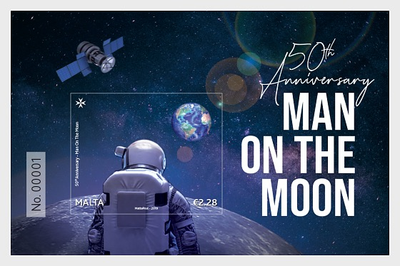 50th Anniversary Man On The Moon - Miniature Sheet