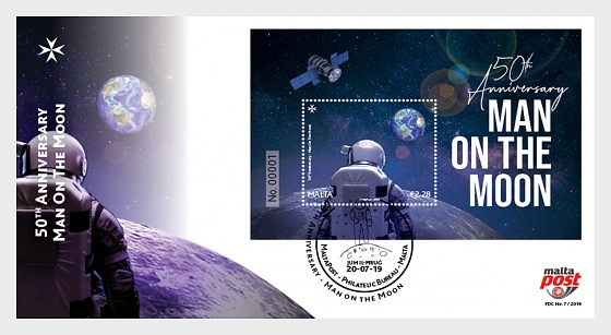50th Anniversary Man On The Moon - First Day Cover