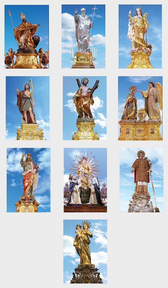 Maltese Festa Series III 2019 - Maxi Cards Festa 2019 85 94 Set x 10 - Maxi Cards