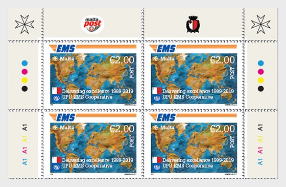 20th Anniversary of the EMS Cooperative - Block of 4