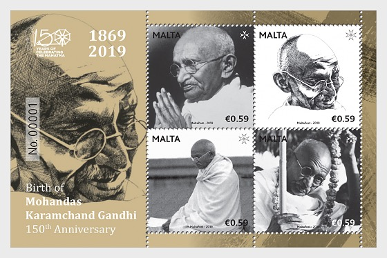 Birth of Mohandas Karamchand Gandhi - 150th Anniversary - Miniature Sheet