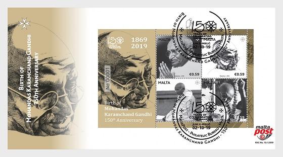 Birth of Mohandas Karamchand Gandhi - 150th Anniversary - First Day Cover