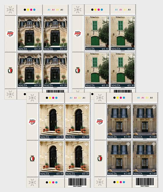Vieilles Maisons D'Habitation Série II - Bloc de 4