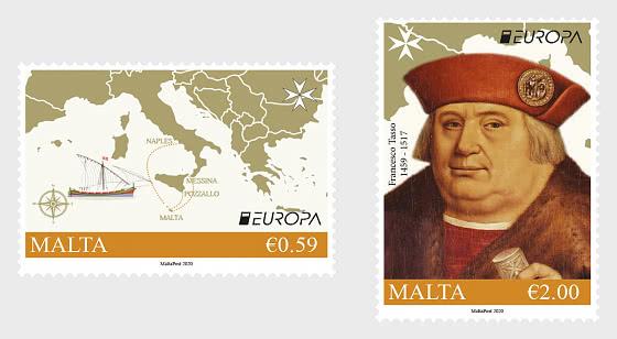 Europa 2020 - Antiche Rotte Postali - Serie