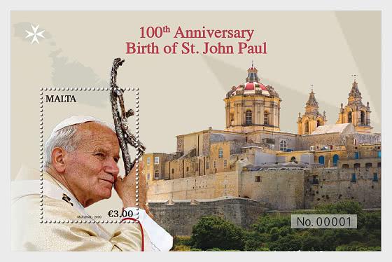 圣约翰·保罗诞辰100周年 - 小型张