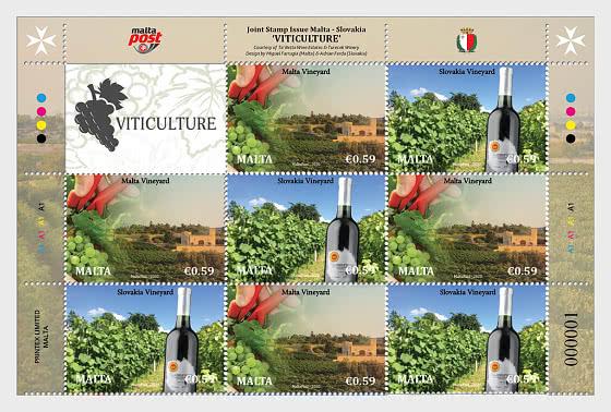 Question commune Malte - Slovaquie «Viticulture» - Bloc de 4
