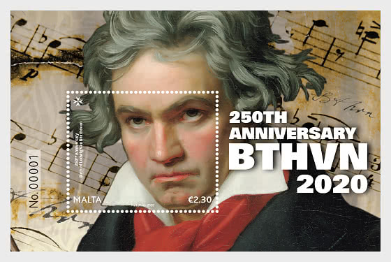 250th Anniversary Birth Of Ludwig Van Beethoven 1770-2020 - Miniature Sheet