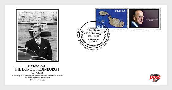 In Memoriam H.R.H. Prince Philip 2021 - Enveloppes de Premier Jour