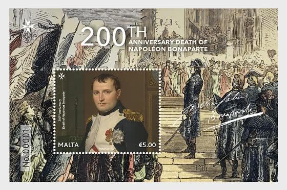 200 ° Anniversario Della Morte Di Napoleone Bonaparte - Foglietti