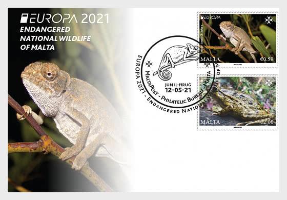 Europa 2021 - Faune Nationale En Voie De Disparition - Carte postale