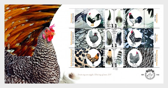 Dutch Chicken Breeds (744a) - First Day Cover