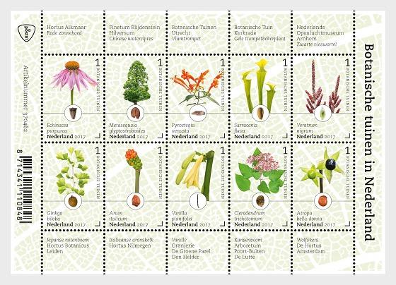 Botanical Gardens in the Netherlands - Miniature Sheet