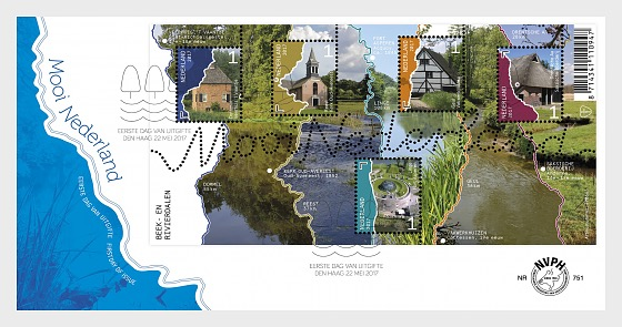 Beautiful Netherlands 2017 - Streams and River Valleys - First Day Cover