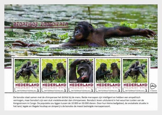 Endangered Mammals 2017 - Bonobo - Miniature Sheet