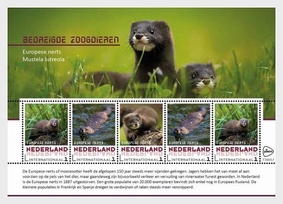 Endangered Mammals - European Mink - Miniature Sheet
