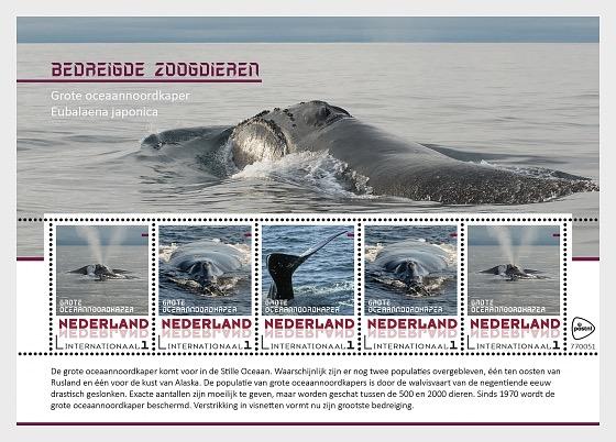 Endangered Mammals 2018 - Whale - Miniature Sheet