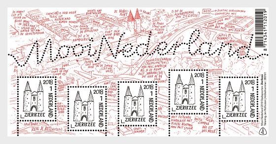 Beautiful Netherlands 2018 - (Zierikzee)  - Miniature Sheet