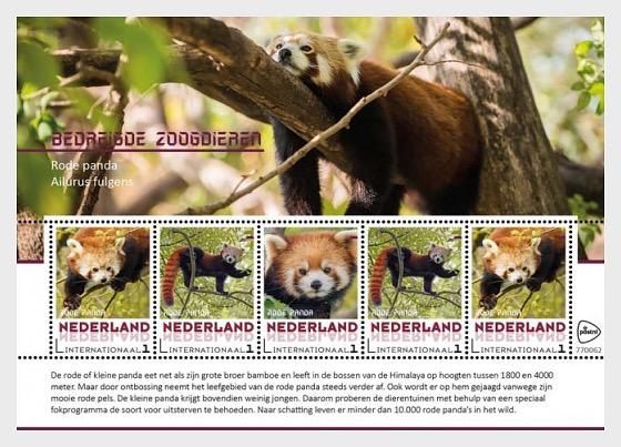 Endangered Mammals 2018 - Rode Panda - Miniature Sheet