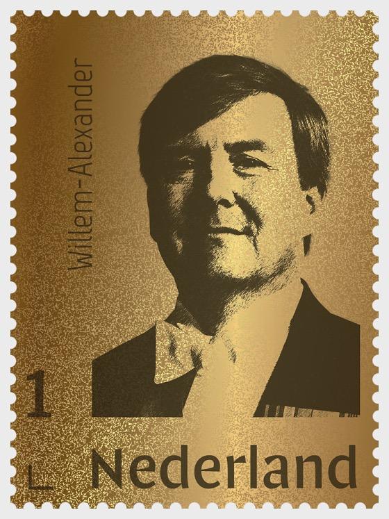 Golden Stamp King Willem-Alexander - Collectibles