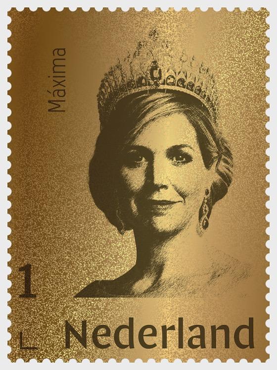 Golden Stamp Queen Maxima - Collectibles