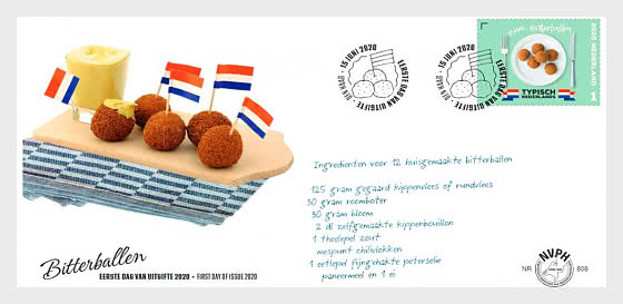 Typically Dutch - Bitterballen - First Day Cover